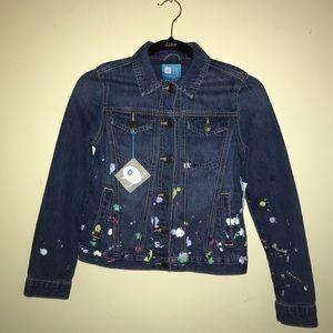 Kids Paint Splattered Gap Jean Jacket
